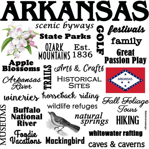 BEST Arkansas, Souvenir Home Decor Gift Tile Design