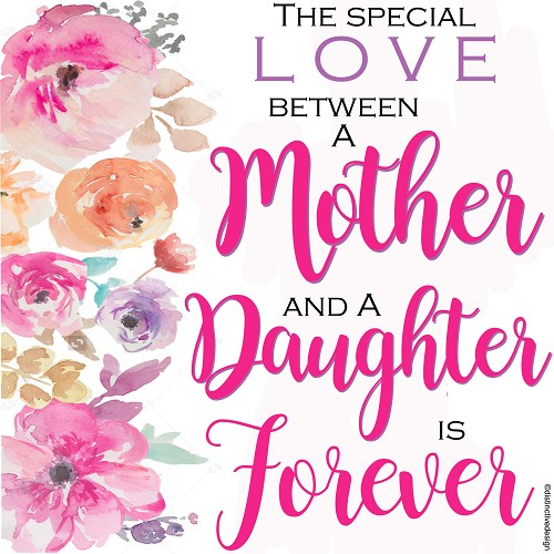 Love Between A Mother & Daughter, Home Decor Gift Tile Design