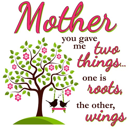 Mother Roots & WIngs, Home Decor Gift Tile Design