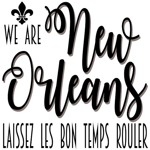 """We Are New Orleans,"" Souvenir Home Decor Gift Tile Design"