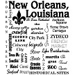 Distinctive Design's, New Orleans, LA, Collage Tea Towel Design