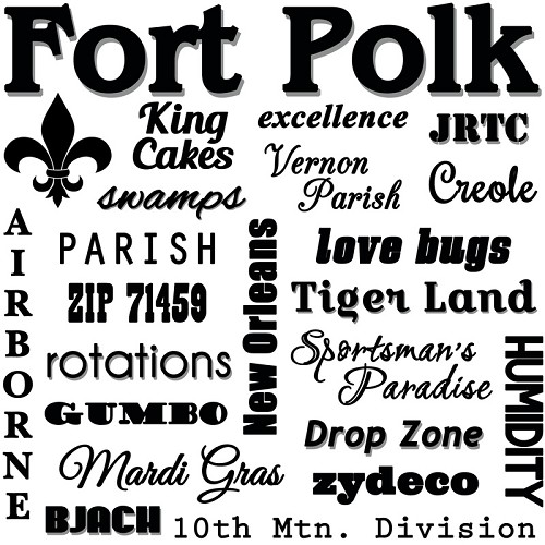 """Fort Polk,"" Louisiana Souvenir Home Decor Gift Tile"