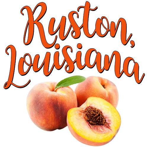 Ruston, Louisiana Peaches, Home Decor Gift Tile Design